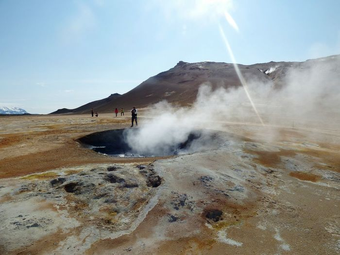 Iceland Photography Beauty In Nature welcometothemoon Craters Namajfall Volcano Men Volcaniczone
