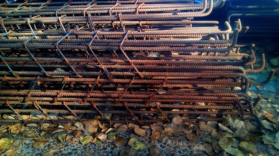 Metal Outdoors Rusty Large Group Of Objects Nature High Angle View Close Up Industry Stack Steel Iron Leaf Landscape