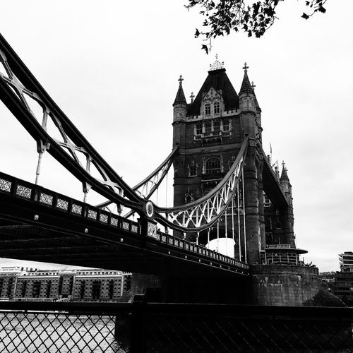 Tower Bridge, London IPhoneography Blackandwhite Blackandwhite Photography Blackandwhitephotography London Bridge Bridge - Man Made Structure Bridges Architecture Tower Bridge