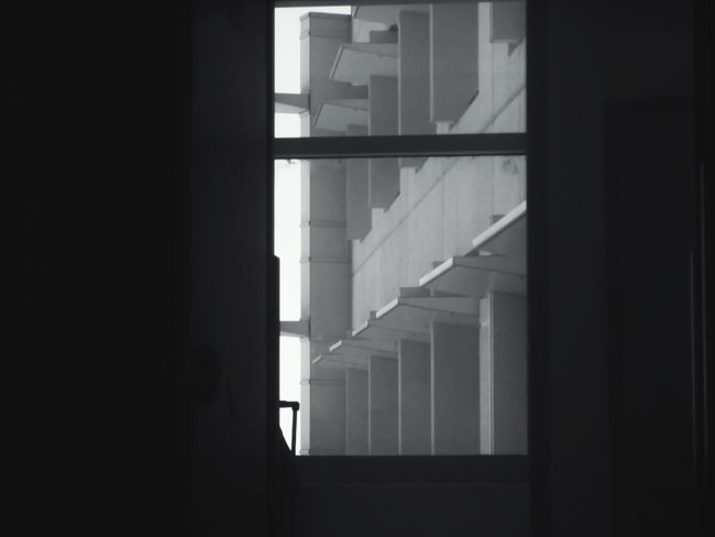 Looking outside. No People Bnwphotography Bnw_collection Architecture Architecture_bw Architectural Detail Black And White Modern Architecture Black And White Photography Black & White Looking Out The Window