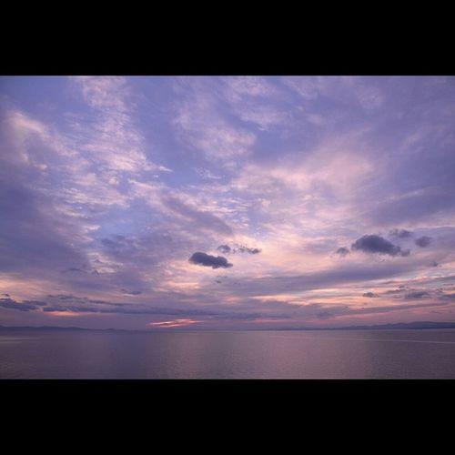むつ湾 風景 空