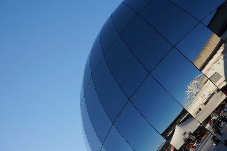 Bristol Cityscape Building Design Reflection Reflections Reflection_collection Textures and Surfaces Eyeemarchitecture Ladyphotographerofthemonth Mette Bruus Mettebruus Modern Art Silver Ball England Bristol Architecture Low Angle View Built Structure Modern Building Exterior Day Clear Sky No People Sky Outdoors City The Graphic City Stories From The City The Architect - 2018 EyeEm Awards Creative Space #urbanana: The Urban Playground