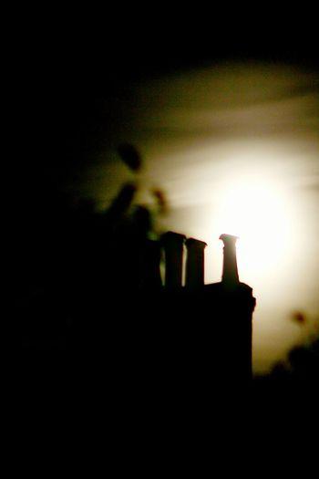 View of illuminated lamp at night