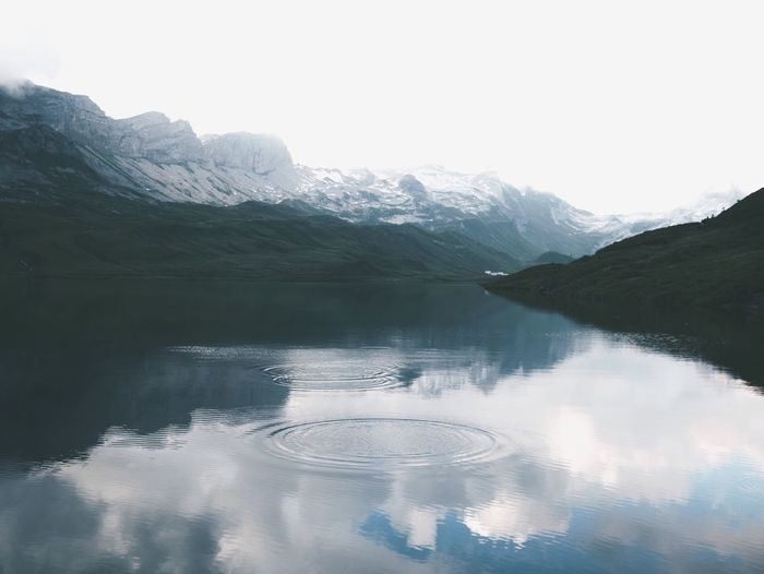 Lake Traveling Nature Landscape Mountain View VSCO Showcase July Mountain Alps Switzerland Reflection Cabin Water Mountains Exploring