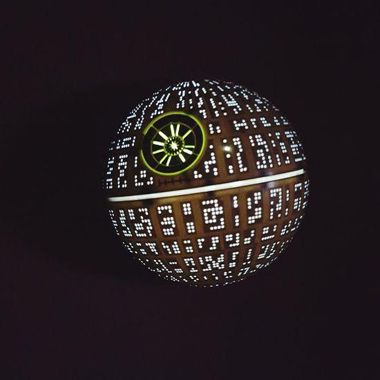 death star is in da house! ☺ Starwars Star Wars Death Star Decoration Interior Design Lights Night Lights
