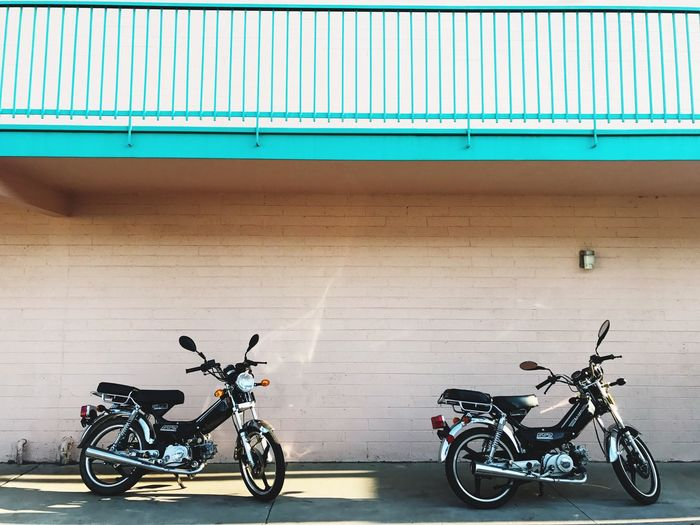 The Week On EyeEm Transportation Mode Of Transport Bicycle Land Vehicle Parking Motorcycle Stationary Day Built Structure Real People Outdoors Bicycle Rack Colorful Gay Fashion