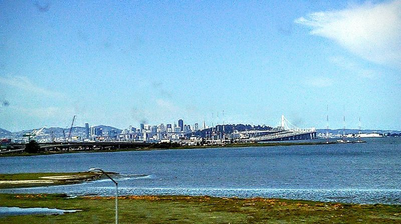 View From The Bus Sky And Clouds San Francisco In The Background Street Photography Travel Photography Road Trip Freeway Scenery Industrial Architecture Infrastructure San Francisco Bay Waterscape Taking Photos ❤ Feel The Journey Nature Freeway Landscape View From Bus Window Bay Area Industrial Landscapes Port Of Oakland, Ca. Machinery Eye4photography  This Week On Eyeem Highways And Byways Bay Bridge View From The Bus Window