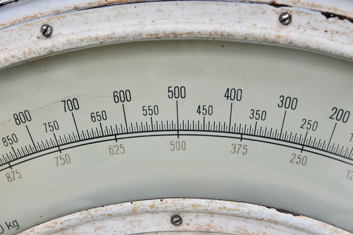 Old, vintage weighing scale, close up Market Old-fashioned Weighing Scale Accuracy Close-up Equipment Grunge Instrument Metal Number Numbers Old Scale  Vintage Weighing Machine Weighing Scales Weight Scale White Color