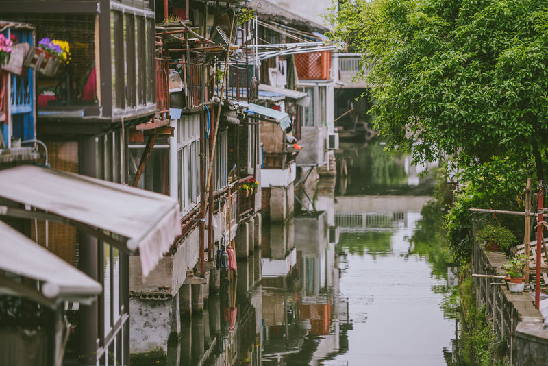 Zhujiajiao Ancient Town (called Shanghai Venice). Zhujiajiao is an ancient water town well-known more than 1700 years Shanghai Architecture Building Exterior Built Structure Canal Day Nature No People Outdoors Travel Destination Water