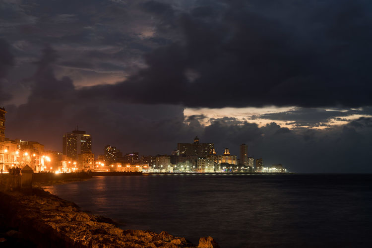 Malecon Architecture Beauty In Nature Building Exterior Built Structure City Cityscape Cloud - Sky Cuba Havana Illuminated Lightning Malecon Nature Night No People Outdoors Power In Nature Sea Sky Storm Cloud Thunderstorm Travel Destinations Water Waterfront