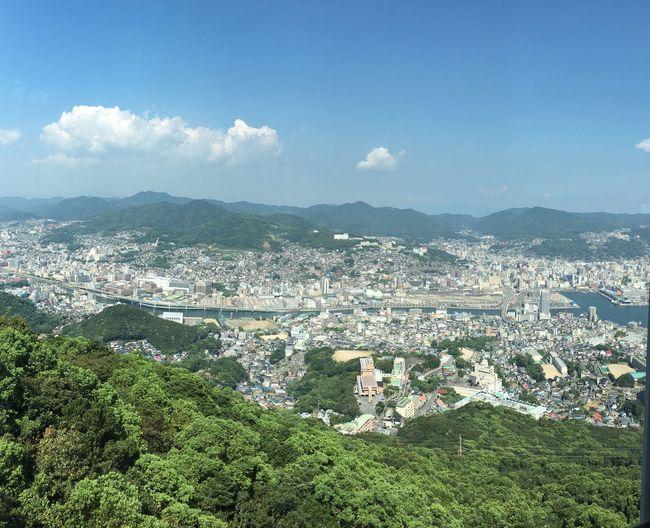 稲佐山展望台より長崎の街の眺め