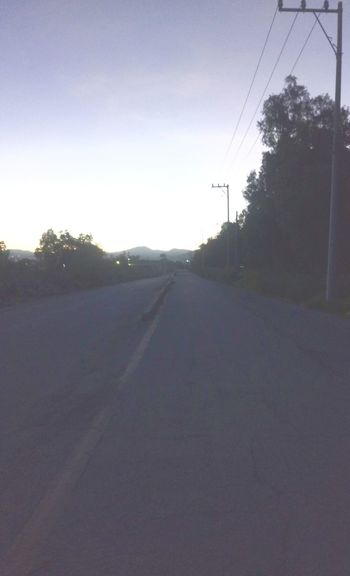Road Morning Light Mexico Mountains :) No People Outdoors