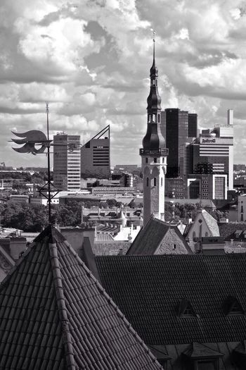 Looking Into The Future Tallinn Oldcity Newcity Architecture Time Cityscapes Rooftops
