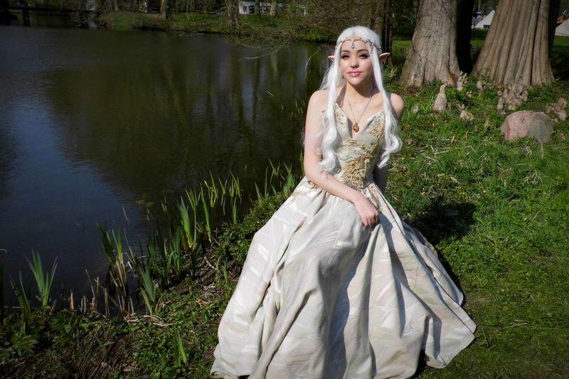 Elf Fantasy Cosplay Elf Fantasy Fair Elfia Fair Haarzuilens Portrait Beauty Beautiful Woman Tree Fairy Fairy Tale Costume Wing