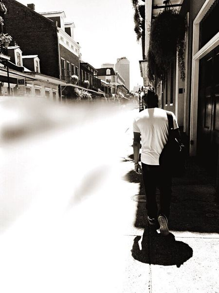 New Orleans Casual Clothing Blackandwhite Blurred Motion