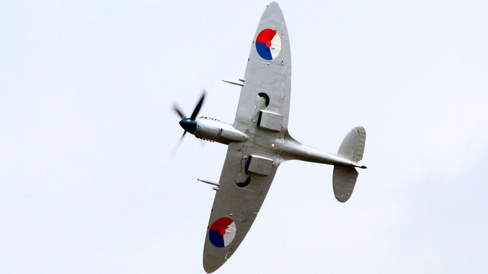 Air Vehicle Airforce Awesome_shots Blue Day Fighter Plane Flying Journey Low Angle View Mid-air Military Airplane Mode Of Transport Nature No People Nostalgia Outdoors Sky Spitfire Supermarine Spitfire Transportation Warbird World War 2 Ww2 WW2 Memorial Ww2warbirds