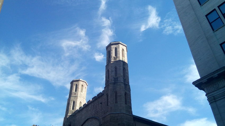 Blue Low Angle View Built Structure Architecture Church Church Exterior Place Of Worship