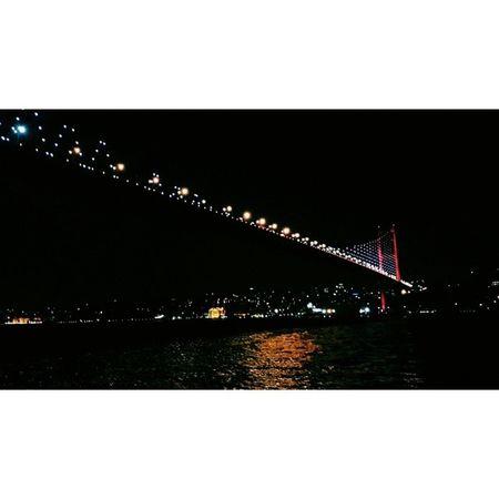 Istanbul Vscoistanbul Vscocam Vscoturkey vsco vscoturkiye instaistanbul igers instagood vscogood bogazkoprusu sultanahmedbridge bridge night shine sea instapic latergram