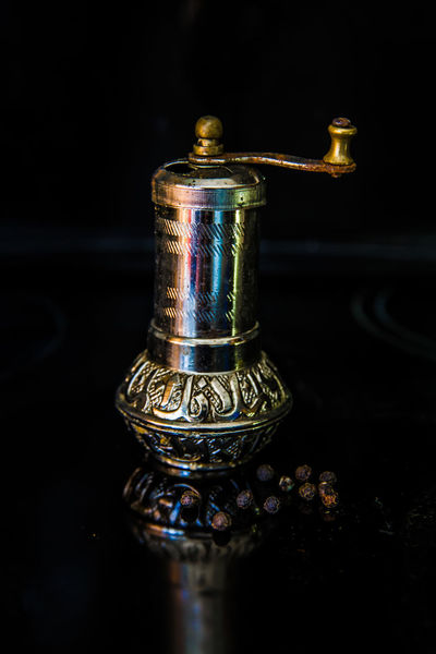 Black Pepper Black Background Close-up Day Indoors  Luxury No People Pepper Pulverizer Perfume Single Object Pepper Mill Machine Kardzhali