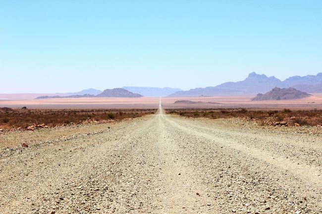 Those family roadtrips Long Roads Clear Sky Namibia Hot Summer Day Outdoors