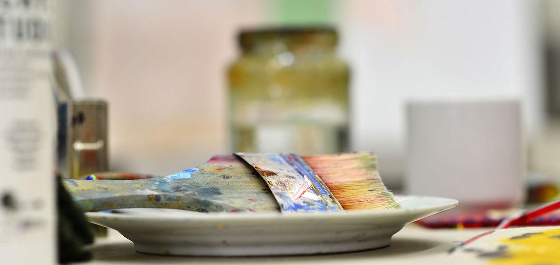 Einblicke in ein Atelier. Atelier Bilder ... ♥ Germany Kunst Künstler Maler Pinsel Rotenburg An Der Wümme