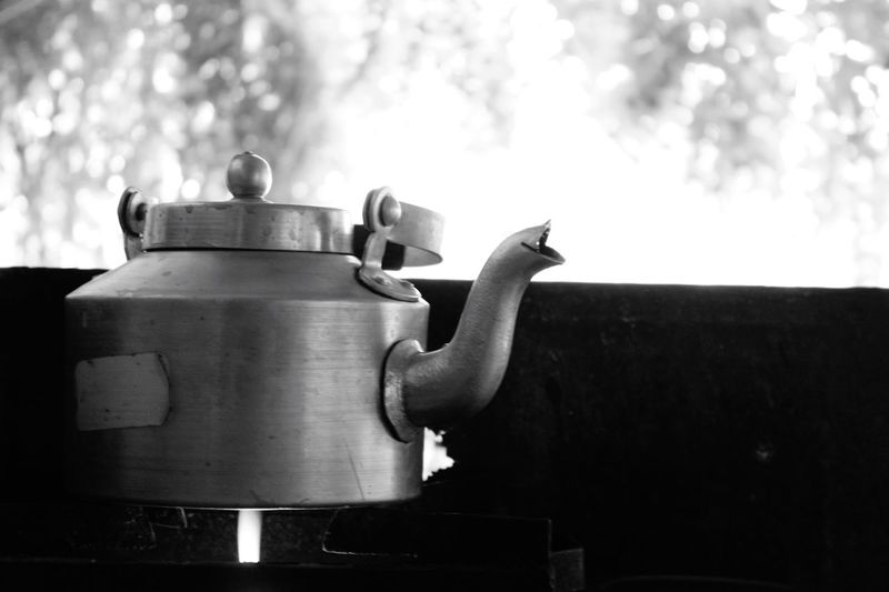 Close-Up Of Tea Pot On Stove
