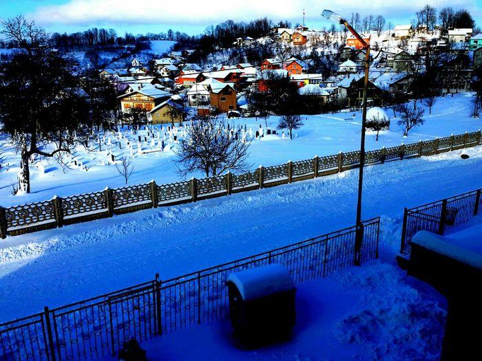 Snow Snowdays  Bosnia Teočak Winter