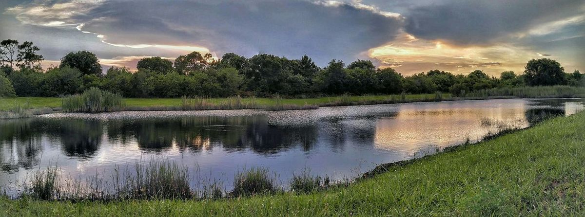 Storm Clouds At Sunset Something In The Air Art By Nature Beauty In Nature Goldenhourphotography By The Lake In The Woods Reflections And Shadows Waterscape Amazing Clouds My Backyard Canvas Light And Shadow Check This Out Twilight Scene Water Reflections Cloudscape Watch The Sky.