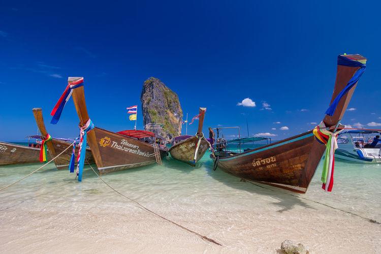 Poda Island in andaman sea ,Krabi, Thailand Krabi Krabi Thailand Phi Phi Phi Phi Islands, Thailand Poda Island Andaman Andaman Sea Beauty In Nature Day Nature Outdoors Phi Phi Island Sea Sky Water
