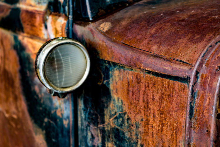 Close-up of rusty car