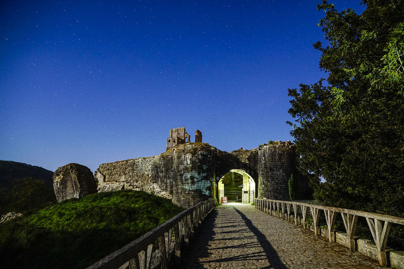 Corfe Castle in Dorset by Moonlight Anticyclone Architecture Built Structure Castle Clear Sky Corfe Corfe Castle Dorset England Europe Fort History Moonlight Nature Night Time No People Outdoors Silhouette Sky Stars Tree Uk Uk Weather Wareham Weather