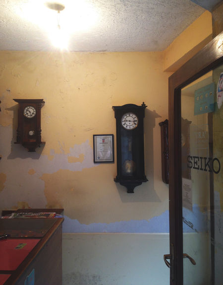 Old wooden clocks Clock Clocks Interior Old Old-fashioned Wall Watch Watches Watchmaker Wooden