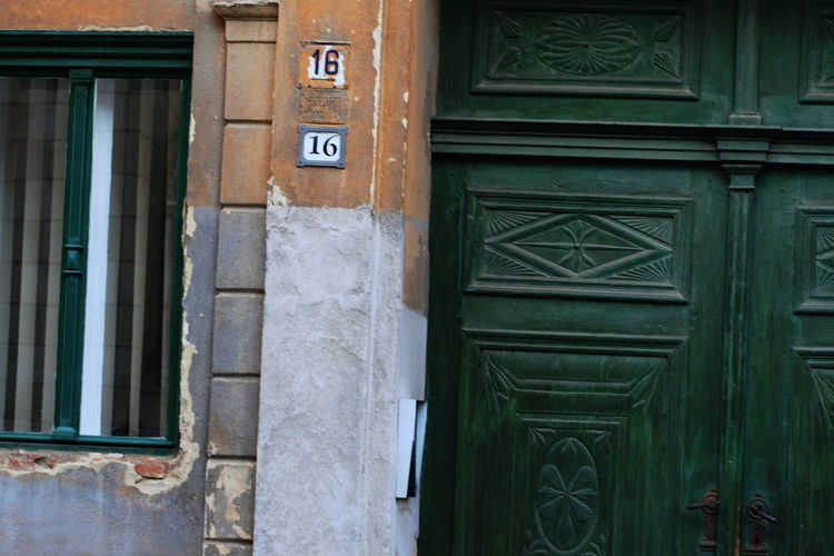 Architecture Building Exterior Built Structure Day Deteriorated Doorway Hungary No People Outdoors Street Number Summer 2016 Szombathely Window