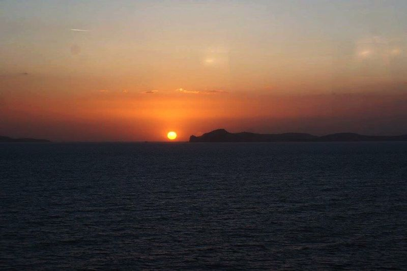 Sunsets at sea. Cruise Ship Vacation Norwegian Europe Cruise