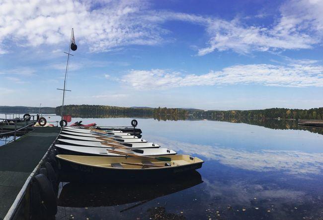 Boats Lake Travel Water Transportation Nature Outdoors No People