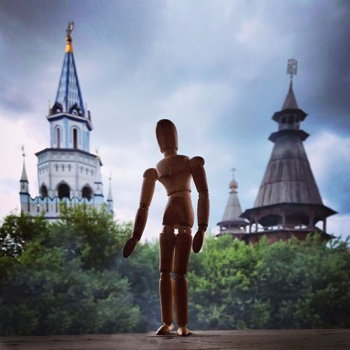 In Moscow Architecture Spirituality Built Structure Travel Destinations Russia Moscow Human Representation One Person Woodyforest