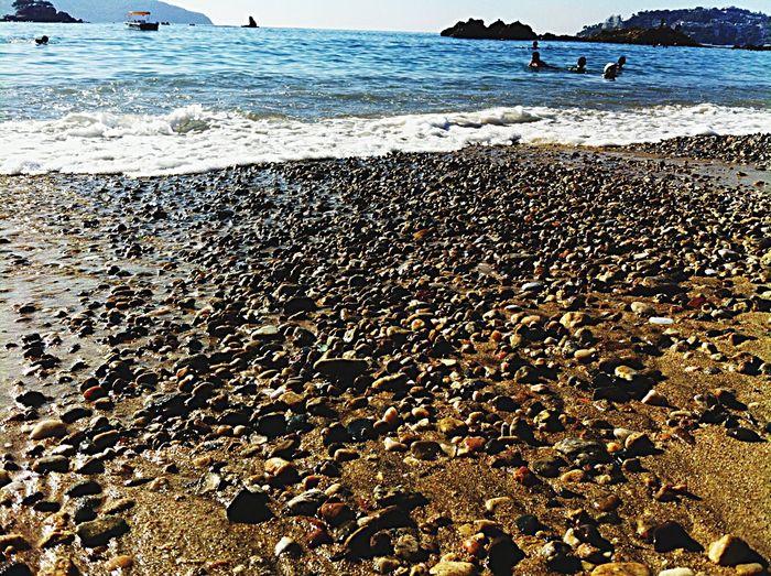 Beach Blue Sky People Rocas Y Mar Piedras Arena Sand Mexico De Mis Amores Bahia Playa Gente Bañandose Disfrutando De La Vida Disfrutando Del Paisaje