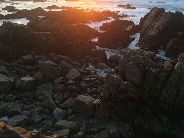 Beach Beauty In Nature Day Nature No People Outdoors Pebble Pebble Beach Rock - Object Scenics Sea Sunset Tranquility Water