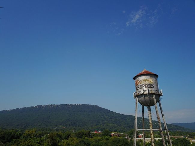 In love with old water towers Chattanooga Tennessee Rock City See Rock City Lookout Mountain Tn Ruby Falls Lookout Mountain Lookout Mountains Tower Waterfront Water Antique Rusty Tower Rusty Rust Old Water Tower Water Tower - Storage Tank Storage Tank Architecture Blue Water Conservation Built Structure Water Tank No People Clear Sky Outdoors Mountain Nature Tree Sky