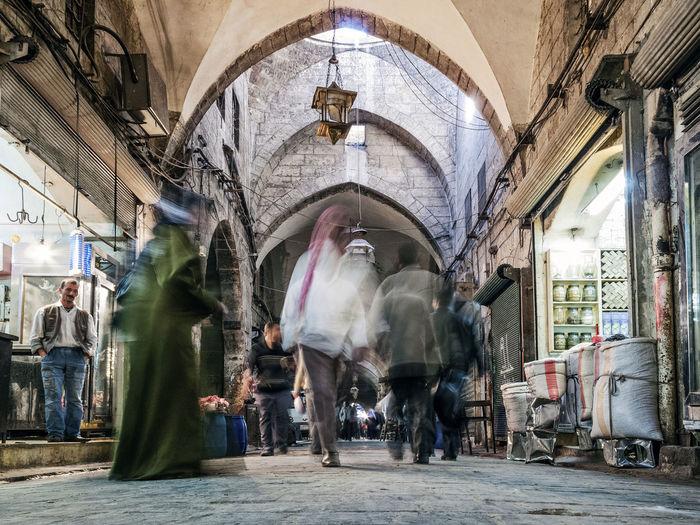old town middle eastern bazaar market street of Aleppo syria Bazaar City Market Middle East Middle Eastern Old Town Syria  Aleppo Arab Arabic Street Syrian