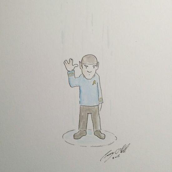 I have and shall always be your friend - Spock Caseyoneillart Spock Startrek Illustration Toronto Torontoartist Sketch Sketchbook
