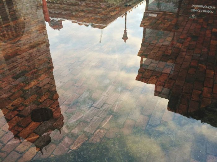 Brick Water Reflections Puddle Puddleography Barbican Centre
