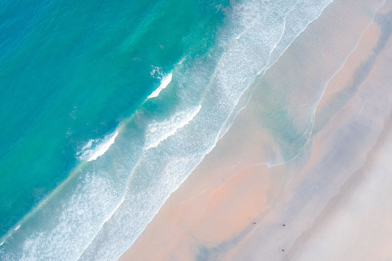 Water Sea Beauty In Nature Land Nature No People Day Beach Scenics - Nature Tranquility Wave Outdoors Sand Aquatic Sport Motion Tranquil Scene High Angle View Idyllic Turquoise Colored