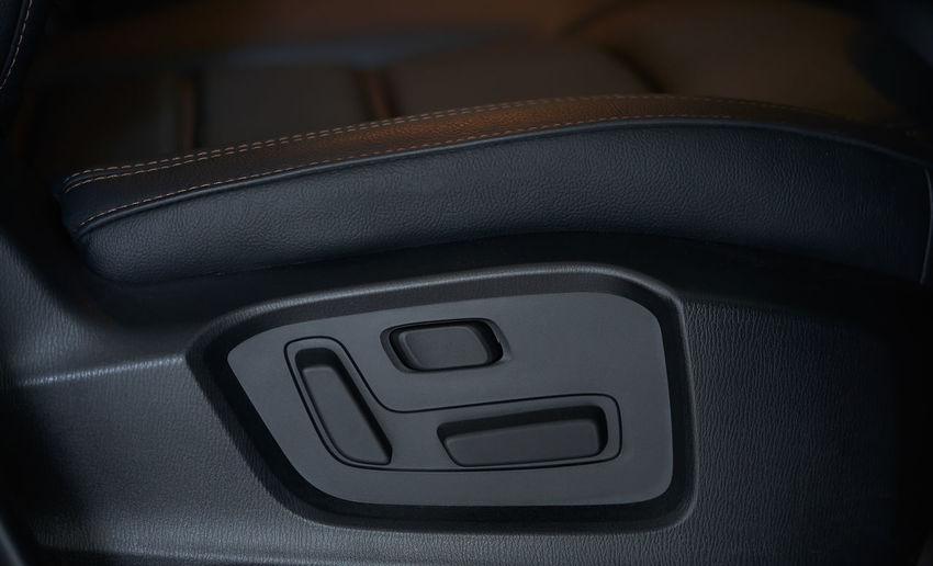 Close-up of black car