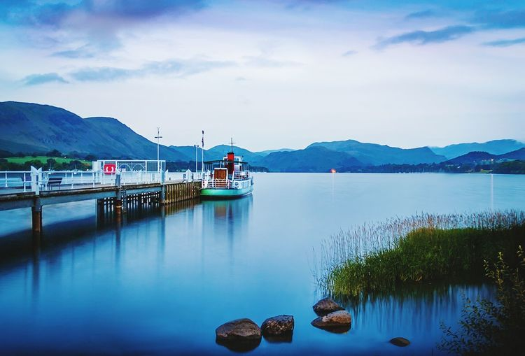 Ullswater Steamer at Pooley Bridge Water Tranquility Mountain Sky Lake Beauty In Nature Scenics Lake District Ullswater First Eyeem Photo