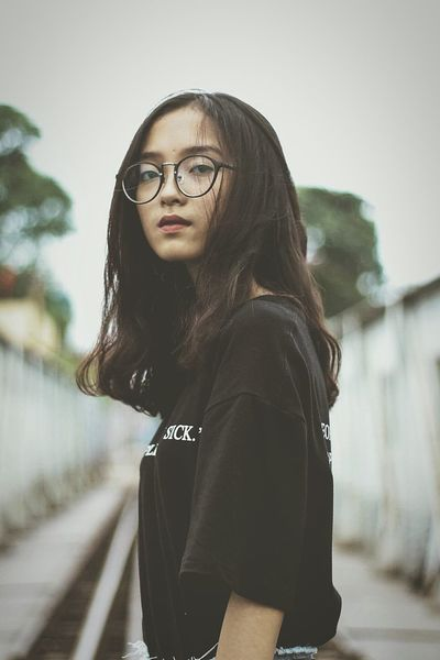 Busy Street EyeEm Selects Warm Clothing Young Women Portrait Eyeglasses  Beautiful Woman Beauty Long Hair Women City Black Hair Hooded Shirt Overcoat Wearing Thoughtful Pretty Asian  Thinking