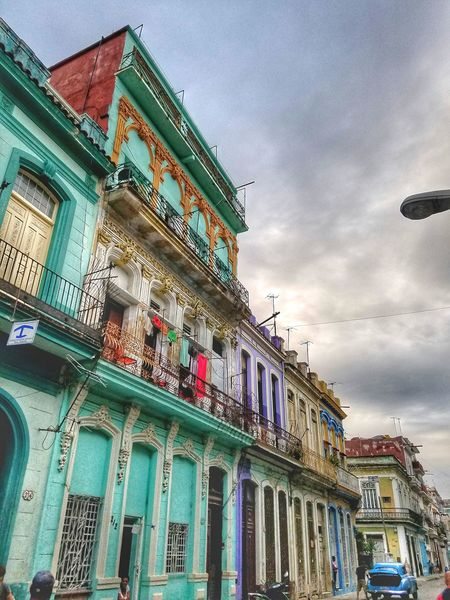 Architecture Sky Built Structure Building Exterior Cloud - Sky Outdoors Multi Colored No People City Day Culture Lifestyles City Life Traveling Photography Photography Fotogeniksyl Architecture Beauty In Nature Cuban Style Window Culture Shock Love