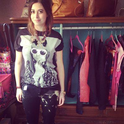 Sieht sie nicht süß aus? ?? Happy Customer Carola with New Kurtcobain Shirt and Bleached Skinnyjeans at FKIDS hamburg altona
