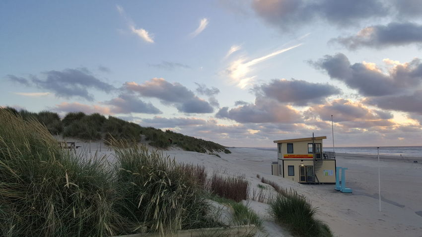 Beach Sand Sea Lifeguard  Lifeguard Hut Water Sky Cloud - Sky Rescue Outdoors Day Nature Beauty In Nature Grass Thank You For Your Like Feel Free To Follow ☺