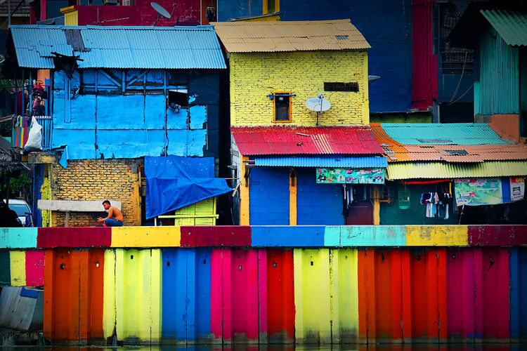 Colorful village in Kemayoran, Jakarta, Indonesia. Multi Colored Built Structure Building Exterior Architecture Building Outdoors Residential District City House Colorful Colorfull Village Colorful Village Jakarta JakartaStreet Jakarta Indonesia